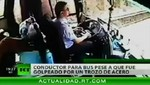 China: Conductor salva a sus pasajeros a pesar de encontrarse herido