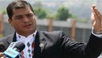 Rafael Correa durante Río+20: los países pobres sufren más el cambio climático