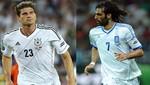 [FOTOS] Eurocopa 2012: Mario Gómez y Samaras son las figuras del encuentro de hoy