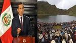 Por protestas: Conga cambió y Humala bajó
