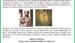 Agenda Cultural de Municipalidad de Miraflores: Exposición Documental, Gustav Klimt