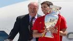 [FOTOS Y VIDEO] Selección de España llegó a su país con la Eurocopa 2012