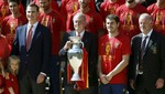 [FOTOS] Selección de España recibió homenaje del Rey Juan Carlos