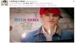 Lindsay Lohan coqueteó a Justin Bieber en Twitter