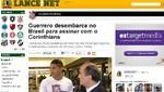 Paolo Guerrero llegó a Brasil para firmar por el Corinthians
