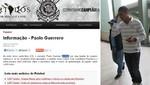 Paolo Guerrero será presentado hoy en el Corinthians de Brasil
