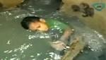 [VIDEO] Colombia: Niño de tres años sobrevive tras permanecer 24 horas dentro de una alcantarilla
