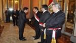 [VIDEO] Ollanta Humala recibió saludo del cuerpo diplomático