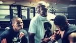 Anderson Silva entrena artes marciales mixtas con Usher