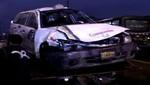 [VIDEO] Lima: Taxistas protagonizaron racha de accidentes