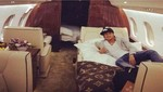 Neymar viajó en lujoso Jet privado a su regreso a Brasil