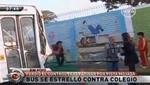 [VIDEO] San Miguel: Bus se estrella contra pared de un colegio