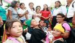 Nadine Heredia se reúne con niños que serán operados de labio leporino