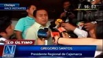 [VIDEO] Gregorio Santos busca 2 millones de firmas para elaborar una nueva Constitución