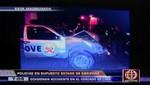 Patrullero de la Policía provoca accidente  y se da a la fuga [VIDEO]
