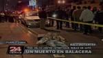 Pueblo Libre: Feroz balacera deja un delincuente muerto [VIDEO]