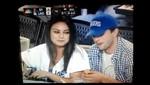 Mila Kunis y Ashton Kutcher en el partido de los Dodgers [VIDEO]