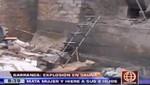 Barranca: Explosión de sauna deja un muerto [VIDEO]