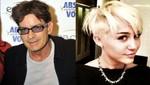 Charlie Sheen habla sobre en Twitter del corte de pelo de Miley Cyrus