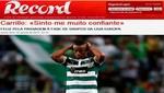 André Carrillo: Estoy feliz por haber anotado, me da confianza