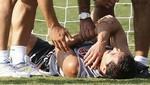 Jugador del Valencia sufrió fractura del brazo jugando 'fútbol tenis' [VIDEO]
