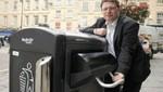 La ciudad de Bath tiene contenedores que comprimen la basura