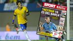 Neymar ya es jugador del Barcelona, afirma prensa española