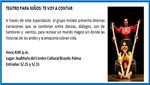 [Agenda Cultural de Miraflores] Teatro Para Niños: Te Voy a Contar - 14 de octubre de 2012