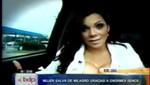 Mujer se salva de morir en accidente gracias a sus enormes senos (video)
