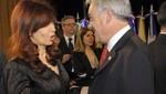 Sebastián Piñera recibe a Cristina Fernández en La Moneda