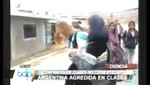 Peruana agrede a una ciudadana argentina en una universidad de Chincha [VIDEO]