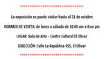 Inauguración de la exposición 'Procesos y Visiones' de Pablo Cruz en el Centro Cultural El Olivar este 17 de octubre 2012