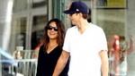 Mila Kunis y Ashton Kutcher tratan de evitar a los paparazzi en LA [FOTOS]