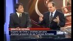 Martin Manco debatió con Daniel Prieto el nivel militar que tienen Perú y Chile [VIDEO]
