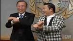 PSY le  enseñó al secretario de la ONU Ban Ki-moon cómo bailar el 'Gangnam Style'[VIDEO]