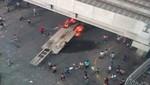 Violento enfrentamiento entre comerciantes de La Parada y la Policía [VIDEO]