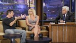 Britney Spears y Simon Cowell en The Tonight Show con Jay Leno [FOTOS]