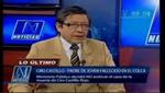 Padre de Ciro Castillo felicitó que no se archive el caso de su hijo