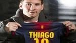 Hijo de Lionel Messi ya tiene su camiseta en el Barcelona