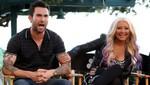 Adam Levine defiende una vez más el peso de Christina Aguilera