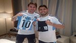 Sergio Agüero cumplió su promesa y le regaló el uniforme de Argentina a hijo de Messi