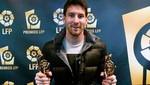 Lionel Messi recibe premios a 'Mejor jugador' y 'Mejor delantero' del fútbol español
