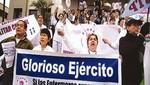 Enfermeras del Ejército anunciarán paro nacional por discriminación en cumplimiento de pagos en sector Defensa