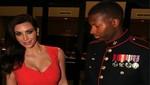 Kim Kardashian hechizó con su busto a marine [FOTOS]