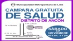 Municipalidad de Lima organiza campaas de salud en Ancn y Puente Piedra