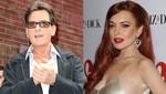 Charlie Sheen dio a Lindsay Lohan 100.000 dólares para pagar su deuda con hacienda