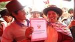 Se entregó 1,234 títulos de propiedad a familias pertenecientes al sur de Ayacucho