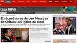 Diario español afirma que Lionel Messi no rompió récord de máximo goleador en un año