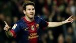 Lionel Messi terminó el 2012 marcando 91 goles