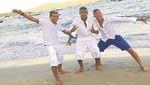 Neymar pasó Año Nuevo con sus mejores amigos en la playa